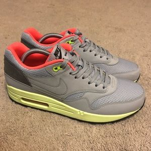 pretty nice bde4d 603f8 Nike Shoes - Air Max 1 FB Yeezy Shoes Mens size 9 grey neon